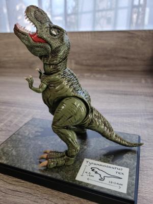 雄叫びをあげるティラノサウルス
